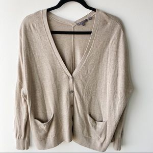 Vince taupe oversize cardigan